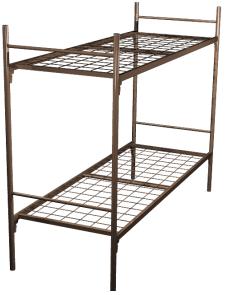 Кровать для рабочих металлическая двухъярусная 80x190 A2-80 - фото 4988