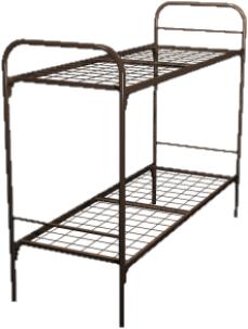 Кровать для строителей металлическая двухъярусная 90x190 B2-90 - фото 4999