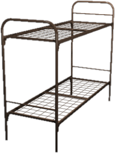 Кровать для строителей металлическая двухъярусная 70x190 B2-70 - фото 5001