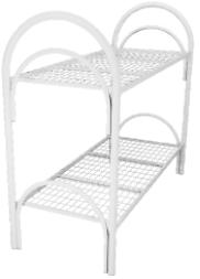Кровать металлическая двухъярусная  для общежитий 80x190 артикул D2-80 - фото 5010