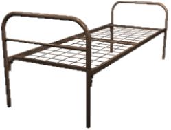 Кровать металлическая одноярусная для рабочих 90x190 артикул B1-90 - фото 5036