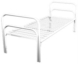Кровать металлическая одноярусная для общежитий 80x190 артикул С1-80 - фото 5039