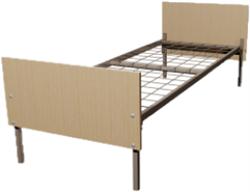 Кровать металлическая одноярусная для общежитий 90x190 артикул E1-90 - фото 5044