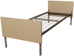 Кровать металлическая одноярусная для общежитий 80x190 артикул E1-80 - фото 5045