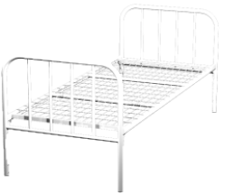 Кровать металлическая одноярусная для больниц 80x190 артикул K1-80 - фото 5051