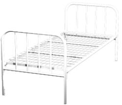 Кровать металлическая одноярусная для больниц 90x190 артикул K1-90 - фото 5052