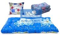 Cпальный комплект для рабочего матрас подушка одеяло KR-70