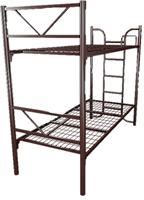 Кровать металлическая двухъярусная для хостелов 90x190 артикул G2-90