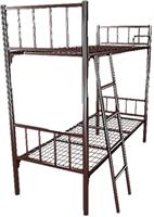 Кровать металлическая двухъярусная для хостелов 70x190 артикул H2-70