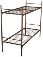 Кровать для рабочих металлическая двухъярусная 90x190 A2-90