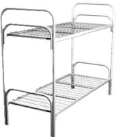 Кровать металлическая двухъярусная для общежитий 80x190 артикул C2-80