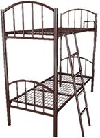 Кровать металлическая двухъярусная для хостелов 80x190 артикул I2-80