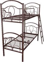Кровать металлическая двухъярусная для хостелов 70x190 артикул J2-70