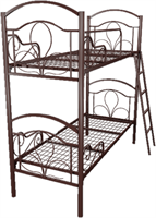 Кровать металлическая двухъярусная для хостелов 90x190 артикул J2-90