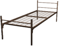 Кровать металлическая одноярусная для рабочих 80x190 артикул A1-80