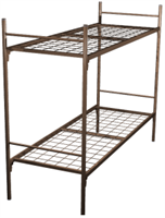 Кровать для рабочих металлическая двухъярусная 70X190 A2-70