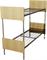 Кровать металлическая двухъярусная для общежитий ДСП 80x190 артикул E2-80 - фото 5015
