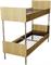 Кровать металлическая двухъярусная для общежитий ЛДСП 80x190 артикул F2-80 - фото 5020